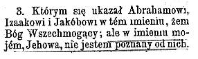 Biblia Gdańska BiZTBW z 1986 roku. Fragment 2 Mojżeszowej  6:3