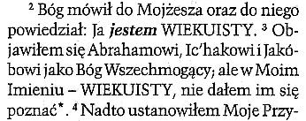 Nowa Biblia Gdańska ŚTB z 2012 roku. Fragment 2 Mojżeszowej 6:3